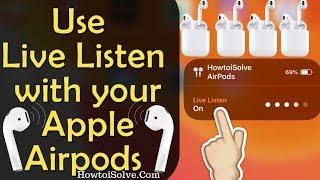 Use Live Listen With Airpods/ Pro on iPhone in iOS 14/13: Spy Conversation or use in a Noisy Area