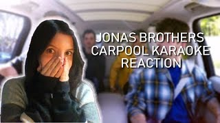 JONAS BROTHERS CARPOOL KARAOKE REACT