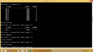 1. How to fetch Nth Placed Record from a Table in Oracle