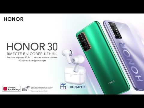 Смартфон Honor 30 Premium (BMH-AN10) 8GB/256GB титановый серебристый