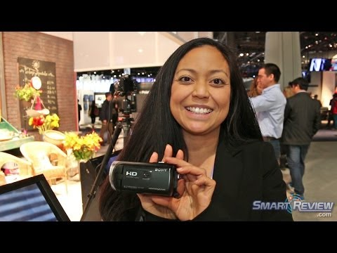 CES 2014 | Sony Handycam HDR-PJ340 Projector Camcorder | WiFi | Full HD | Smart Review