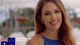 Madeline Cowe Contestant from Australia for Miss World 2016 Introduction