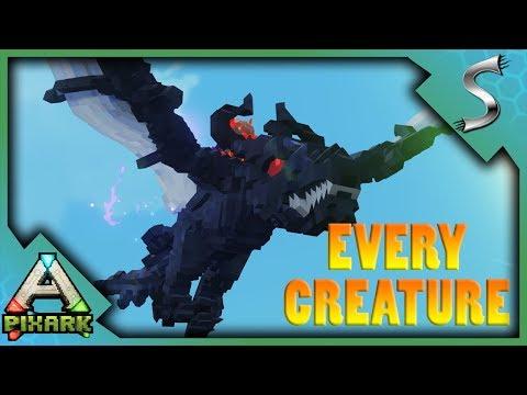 EVERY CREATURE IN PIXARK! GHOST DRAGON, TREX, GRYPHON, CYCLOPS, TREANT + MORE! - PixARK [Gameplay]