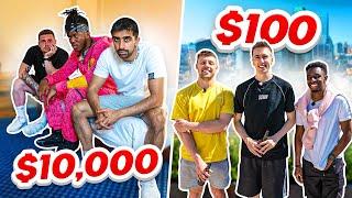 SIDEMEN $10,000 VS $100 HOTEL