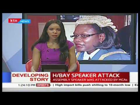 MCAs at it again verbal exchanges and fist fights over speaker's return