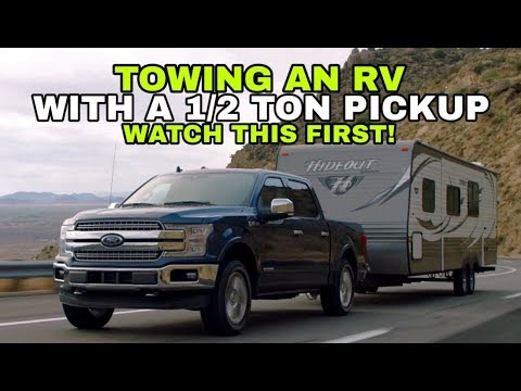 Towing a Travel Trailer RV with a 1/2 ton Pickup! Watch this!