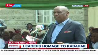 Leaders pay homage to Gideon Moi at Kabarak | Bottomline Africa