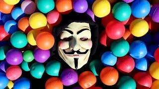 SECRET HACKER HIDES IN BALL PIT LEAVES MYSTERY CLUES TO PROJECT ZORGO OR GAME MASTER Battle Royale