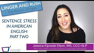 Sentence Stress in American English: Part 2 (Where to Rush)