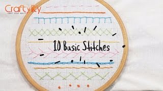 DIY Hand Embroidery Stitches Tutorial For Beginners | Learn 10 Simple Hand Embroidery Stitches Ideas