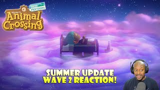 Summer Update Wave 2 Reaction! | Fireworks! Dream Suites! | Animal Crossing New Horizons