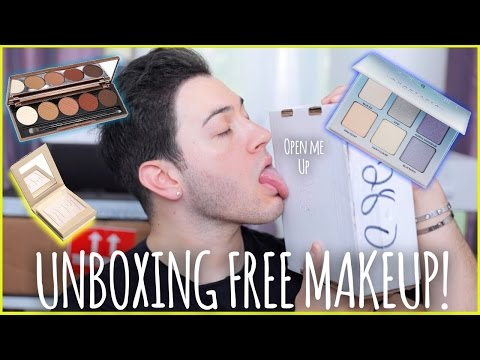 UNBOXING PR PACKAGES! FREE MAKEUP BEAUTY GURUS GET | Manny MUA