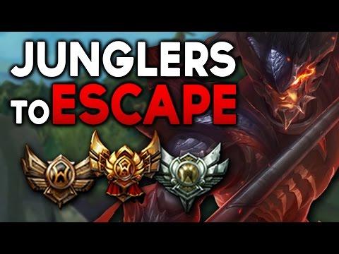 Best JUNGLERS to ESCAPE BRONZE/SILVER/GOLD (League of Legends)