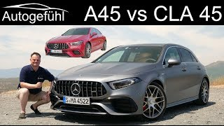 Mercedes A45 S AMG vs CLA 45 S AMG comparison FULL REVIEW - Autogefühl
