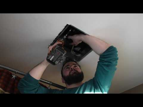 How to Install a Bathroom Ventilation Fan Inside a Finished Ceiling