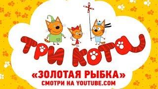 Три кота - Новая серия 14 июля на канале - Золотая рыбка