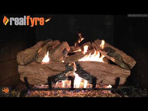 Real Fyre Charred Cedar Vented Gas Log Set