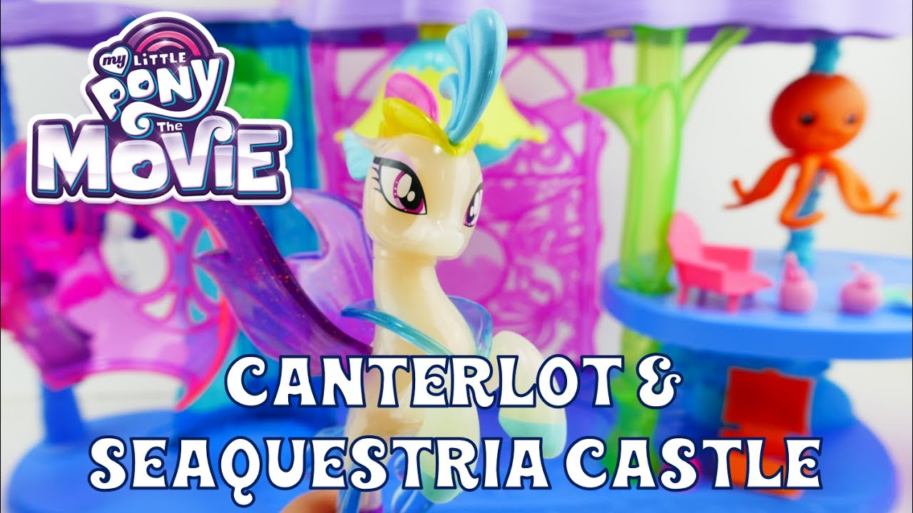 My Little Pony The Movie Canterlot & Seaquestria Castle Playset - Queen Novo and Pufferfish Spike