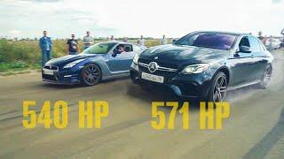 БЕЗУМСТВО на SUBARU WRX STI и ВСЕ 63 AMG MERCEDES против ДВУХ NISSAN GTR #2