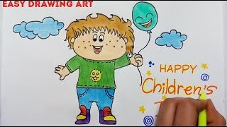 How To Draw For Childrens Day ฟร ว ด โอออนไลน ด ท ว ออนไลน