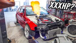 TURBO BMW E46 M3 HITS THE DYNO!! (SO LOUD!)