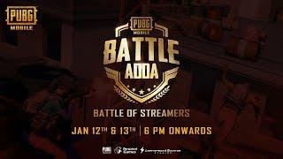 Battle Of Streamers | BATTLE ADDA (PUBG MOBILE)