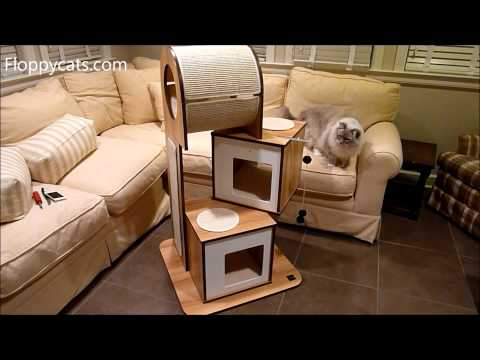 Hagen Vesper Cat Furniture V-Tower Cat Tower Arrives for Review – Modern Cat Tree – Floppycats