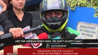 Grab Bike driver caught in LTFRB entrapment operation