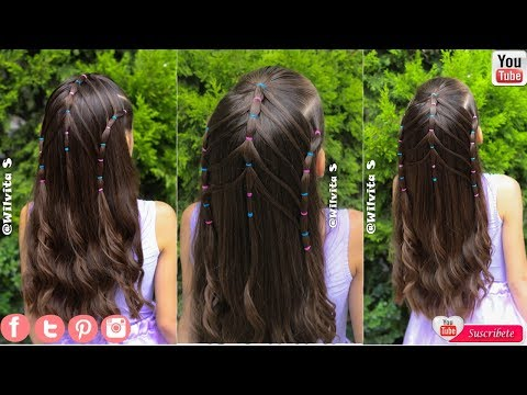 Peinado Con Ligas Para Ninas Ideal Para La Escuela Peinados