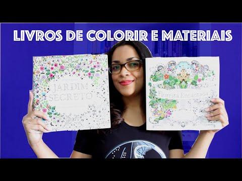 Livros para colorir e materiais