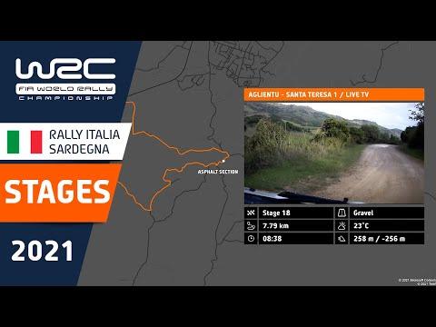 WRC 2021 第5戦ラリー・イタリア 全ラリーステージを紹介した動画