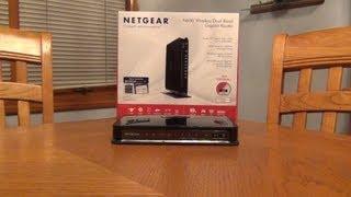 Netgear N600 Wireless Dual Band Gigabit Router WNDR3700v4...Unboxing and Setup
