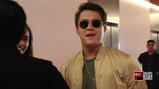 BRoll of Enrique Gil and Liza Soberano arriving at new TFC offices in Daly City