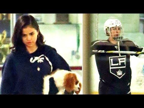 Justin Bieber Shows Off His Hockey Skills For Selena Gomez