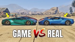 GTA 5 ONLINE   GTA 5 CARS VS REAL LIFE CARS PART #03 (WHICH IS FASTEST?)