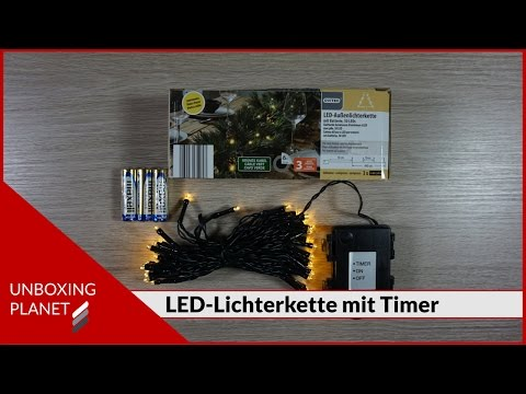 LED-Aussenlichterkette mit Timer - Unboxing Video