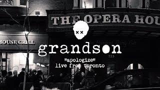 Grandson: Apologize [OFFICIAL LIVE VIDEO]