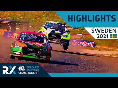 世界ラリークロス 第4戦スウェーデン(ホーリエス)2021年 RX3クラスの決勝ファイナルのハイライト動画