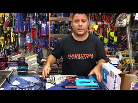 Como Usar engrampadora y clavadora 2 en 1 eléctrica 220v Gamma