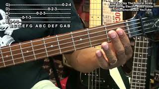 Getting Started On 5 String Electric Bass Guitar #2  Play The Natural Scale @EricBlackmonGuitar