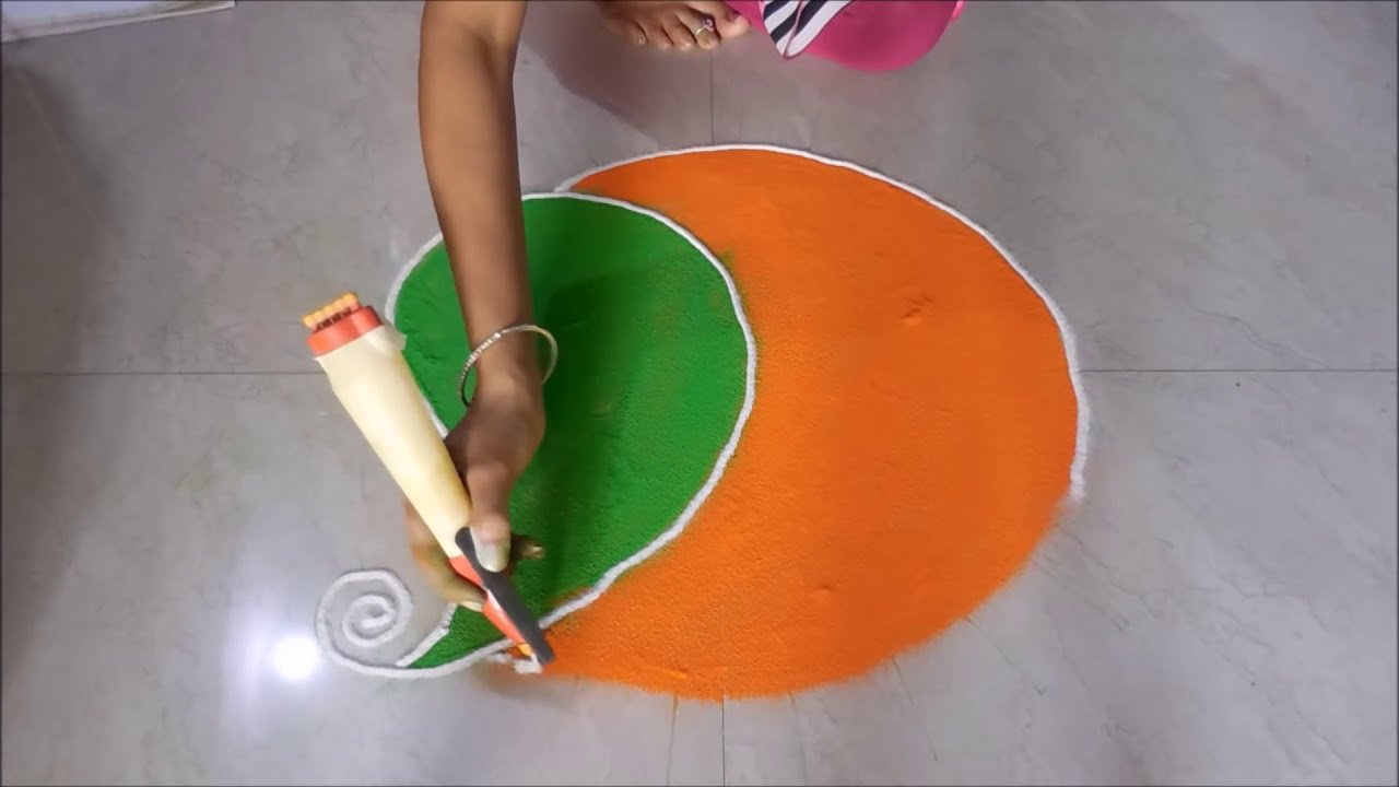 beautiful and easy freehnd rangoli design by poonam hedau