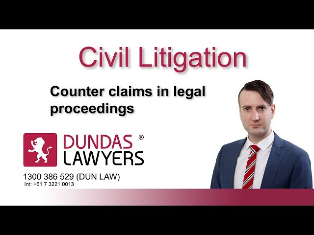Counter claims in legal proceedings and introduction