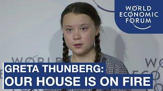 """""""A casa está em chamas"""" - Greta Thunberg"""