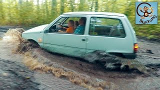 Дети и Машина. Застряли в луже. Делаем машину из мультика Маша и Медведь. МашаМобиль #2