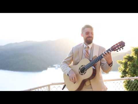 SUNSET guitar at Lake Shasta by Michael Sean Miller performing