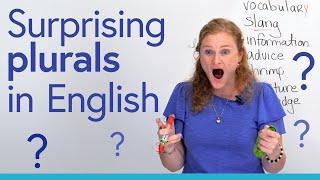 I HATE English! Surprising plurals and singulars 😕