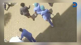 CS Raphael Tuju wheeled on a stretcher into Karen Hospital after emergency surgery