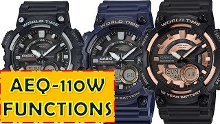 Review Casio AEQ-110W Function manual 5479