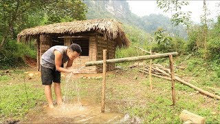 Primitive technology: Irrigation, Water supply by bamboo tube for farming and living