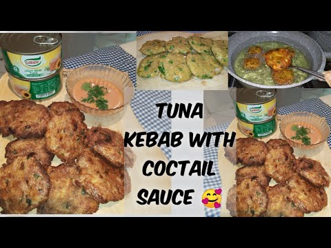 How to make Tuna kebab with coctail sauce|#EasyAndSimpleRecipe|#BudgetFriendlyRecipe|#RosaliesWorld